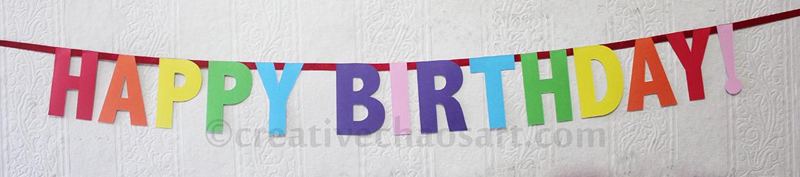 Creative Chaos Art: Birthday Banners